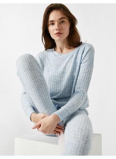 Koton Pyjamas Knıt Tops Mavi